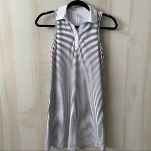Kyodan Black White Striped Racerback Tennis Dress